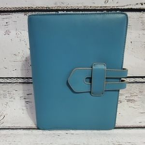 Franklin Covey Teal Leather Planner